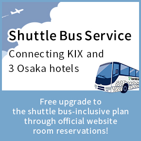 hotels SHUTTLE BUS SERVICE BETWEEN KANSAI INTERNATIONAL AIRPORT AND THREE HOTELS IN OSAKA