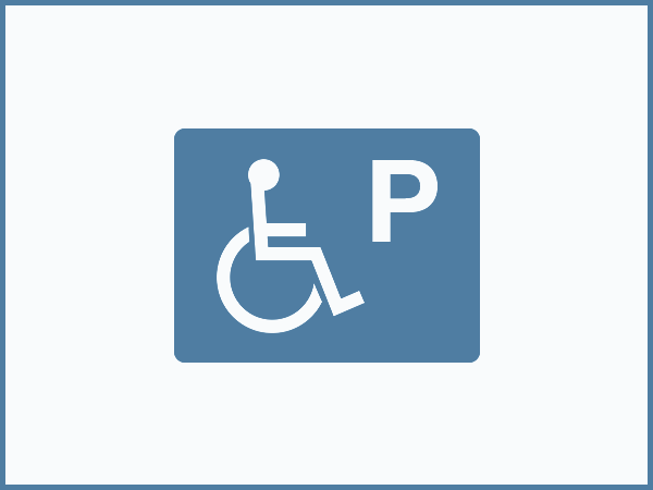 Disabled parking space (1 space)