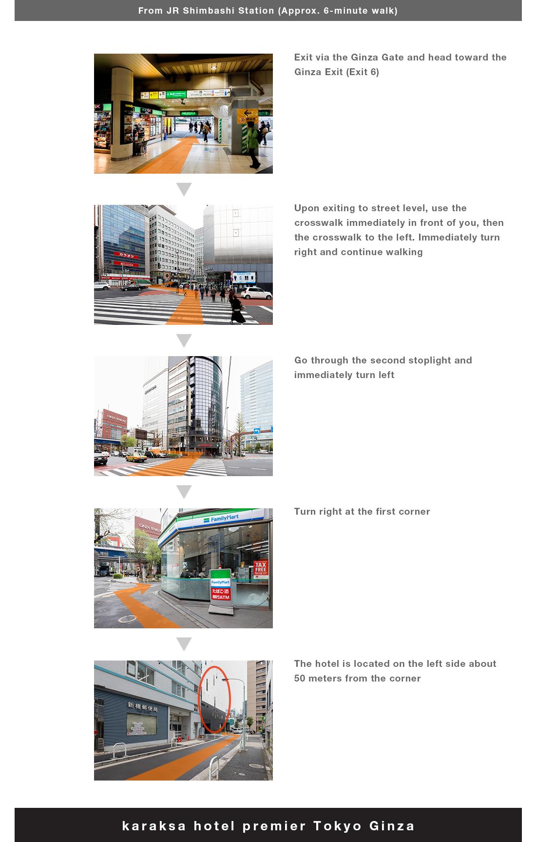 Access|karaksa Hotel Premier Tokyo Ginza